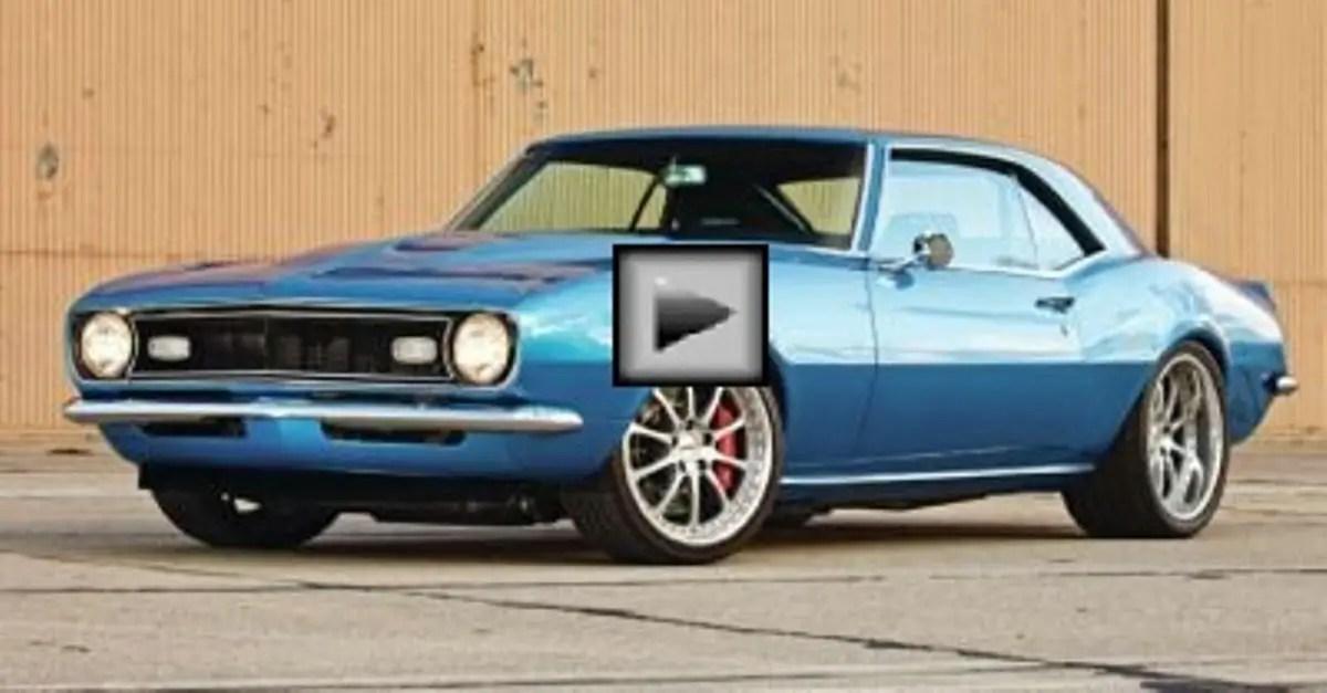 1968 chevrolet camaro american muscle car