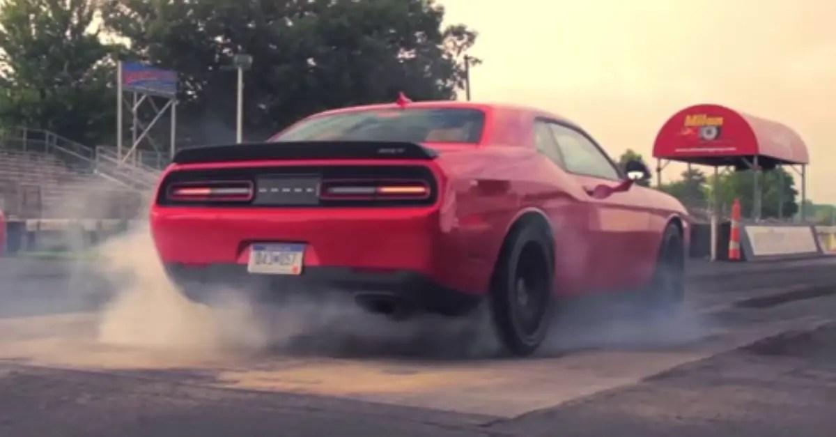 1414 Horsepower Twin 2015 Dodge Challenger SRT Hellcat Burnouts mopar muscle car