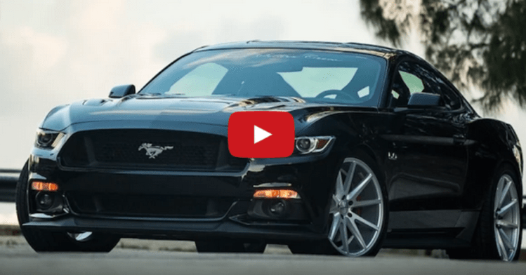 2015 Ford Mustang GT 5.0 on Vossen Wheels | HOT CARS | 749 x 392 png 125kB