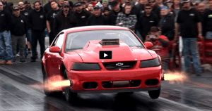 chevy powered nitrous mustang