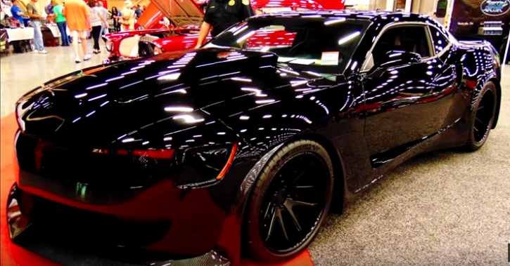 sick wide body 2014 chevy camaro zl1 custom hot cars