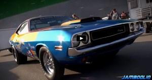 mopar muscle cars doing burnouts video