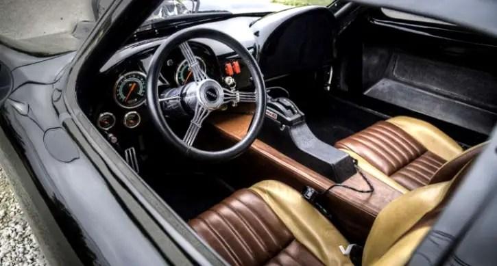 black 1963 corvette split window custom