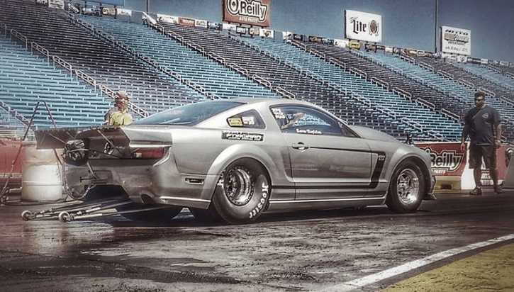modified nitrous mustang by fast forward race cars