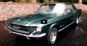 moss green 1967 ford mustang t5