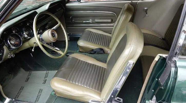 moss green t5 1967 mustang collector car