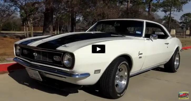 restored 1968 chevrolet camaro in white