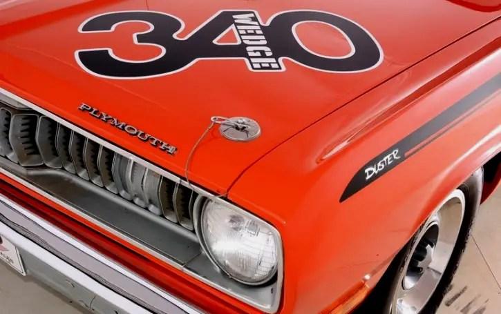 hemi orange 1972 plymouth duster h-code