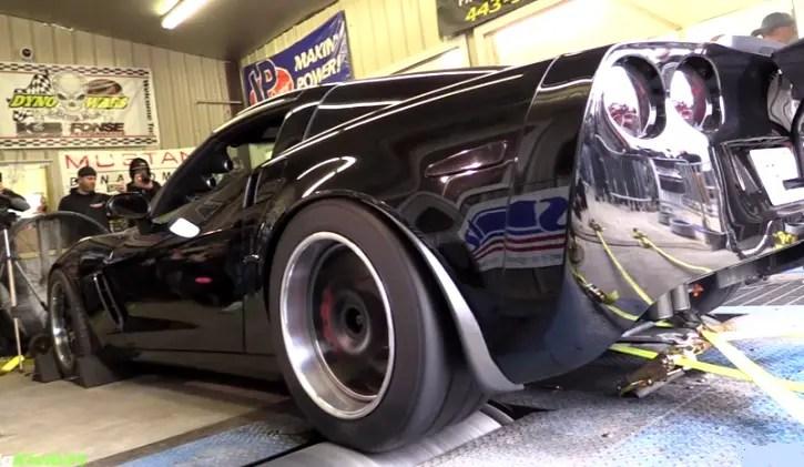 black 1200hp corvette z06 fonse performance dyno wars