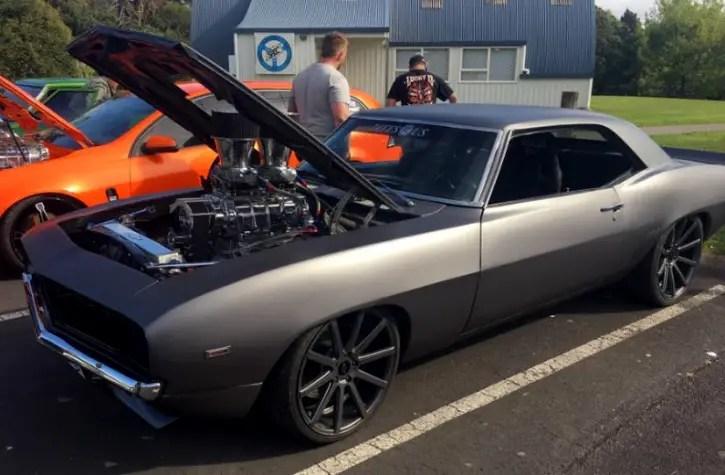custom built evil69 camaro burnout