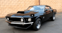 black on black 1969 mustang boss 429 kk nascar motor