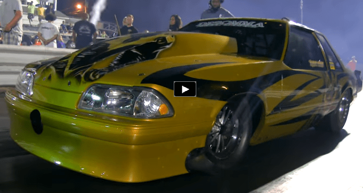 fletcher cox gold dust mustang new record drag racing