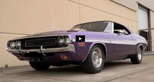 plum crazy purple dodge hemi challenger convertible