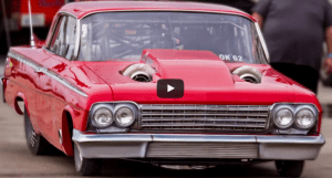 twin turbo 1962 chevy impala big block drag racing
