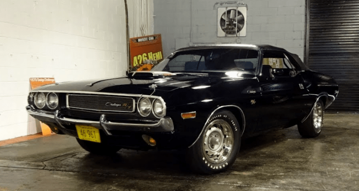 triple black 1970 dodge challenger rt convertible