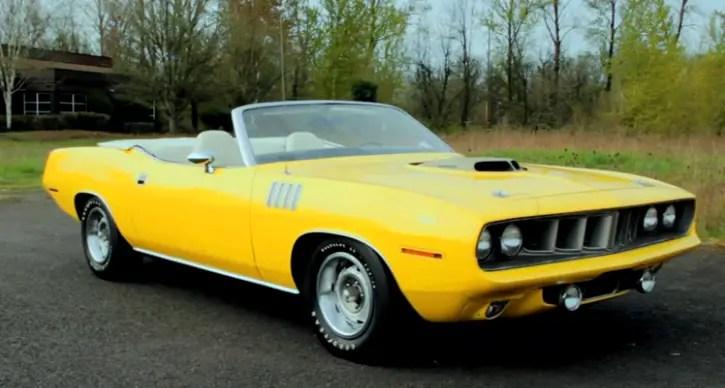 Lemon Twist 1971 Plymouth Hemi Cuda Convertible Hot Cars