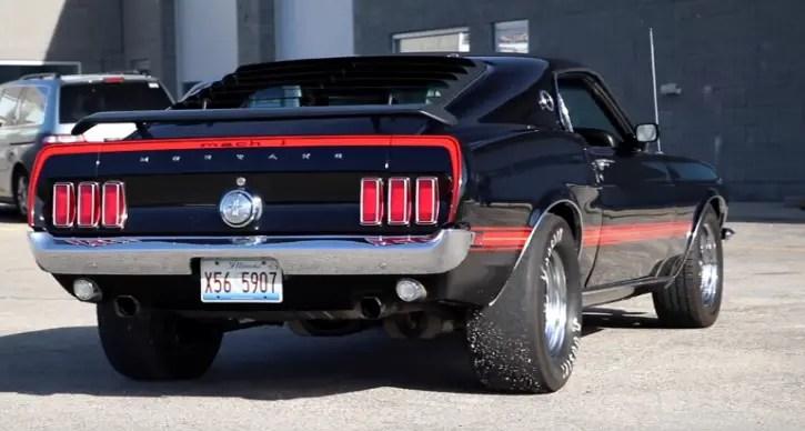 black 1969 mustang mach 1