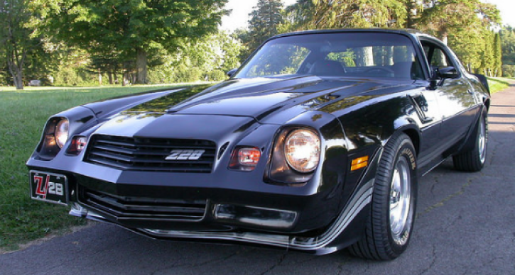 black 1980 chevrolet camaro z28