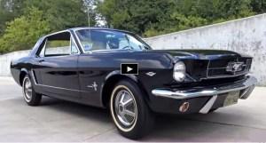 Raven black 1965 ford mustang survivor
