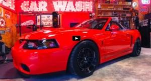 red convertible mustang cobra terminator