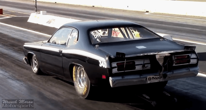plyouth duster 340 drag racing