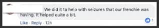 Facebook response to cbd oil