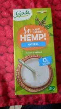 package of hemp milk