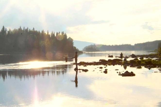 Fiske i sommarkvällen. Foto Anki Hallqvist