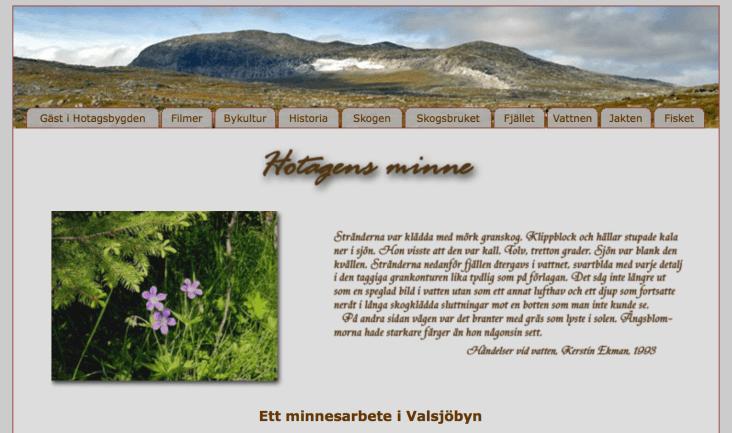Hotagens MInne, Kerstin Ekman www.hotagensminne.se