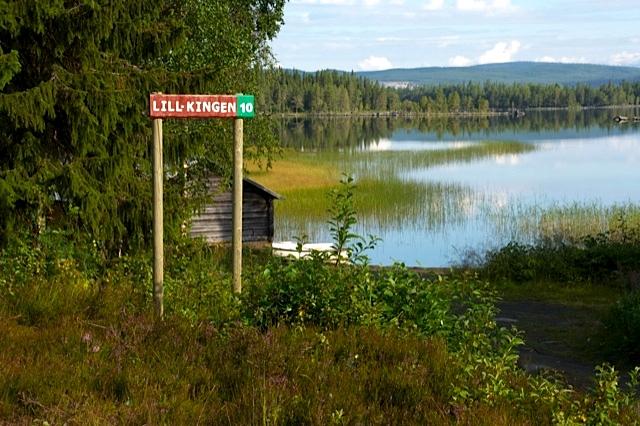 Lill-Kingen ett populärt vatten i Hotagsbygden. Foto John Omalley
