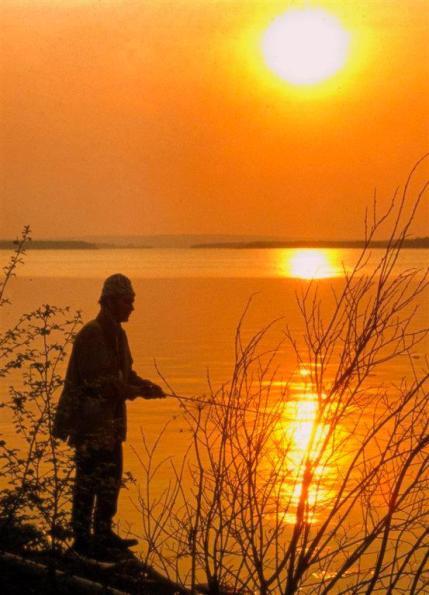Fiske i Gunnarvattnets fvo. Foto Kjell-Erik A
