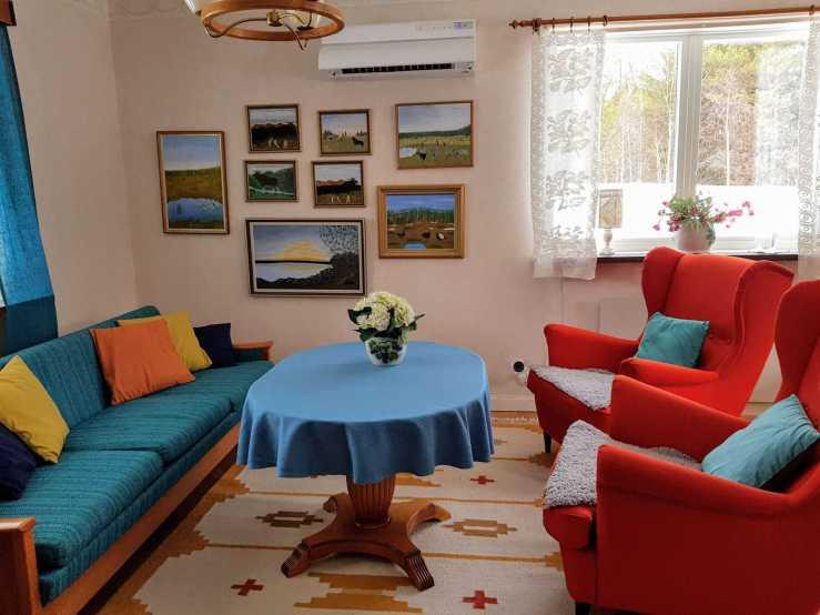 Villa Karin vardagsrum 2. Foto Stilla Dagar
