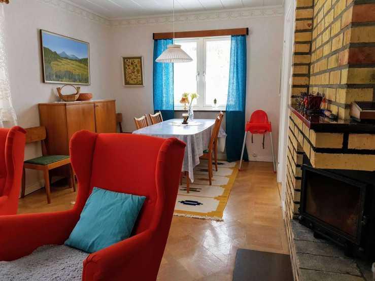 Villa Karin vardagsrum 3. Foto Stilla Dagar