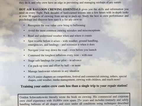 Hot Air Balloon Crewing Essentials