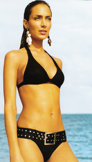 Black Bikini belted Bond Style