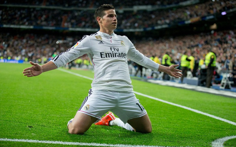 Los 7 jugadores de futbol con mayor valor de fichaje  - james-rodriguez-real-madrid