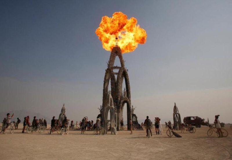 El arte, la libertad y el sentido de comunidad representan los principales valores del Burning Man Festival - burning-man-4
