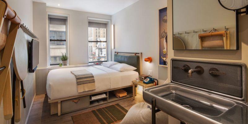 El nuevo hotel Moxy, una divertida alternativa para alojarte en Nueva York - nuevo-hotel-Moxy-8.-Cuarto-3