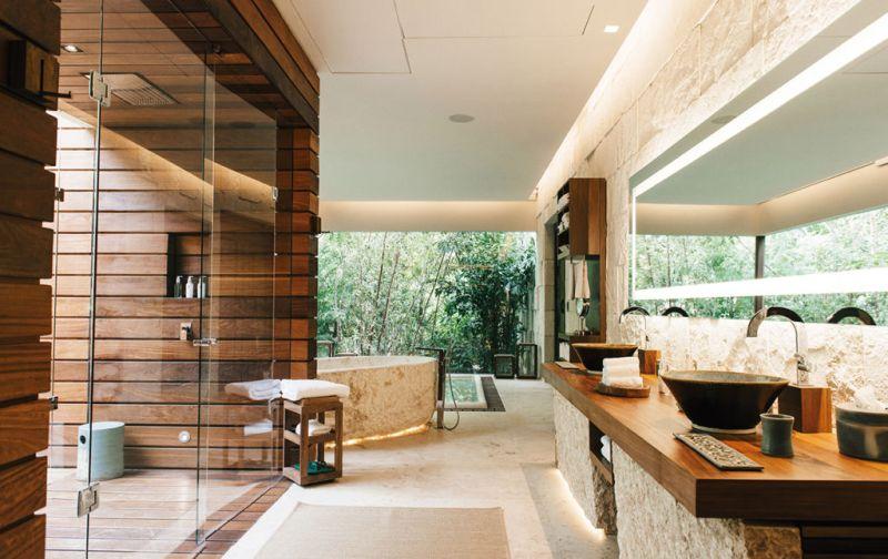 Hotel Chablé, la nueva joya en Yucatán. - Chablé-bathroom