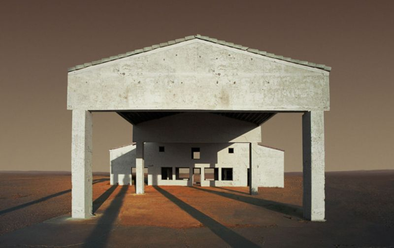 HOTphoto: Ed Freeman - Ed-Freeman-Gas-Station-Under-Construction-Niland