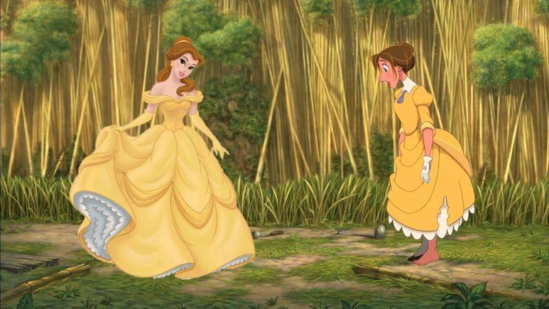 11 fun facts de las películas de Disney - 4-la-bella-y-jane-disney