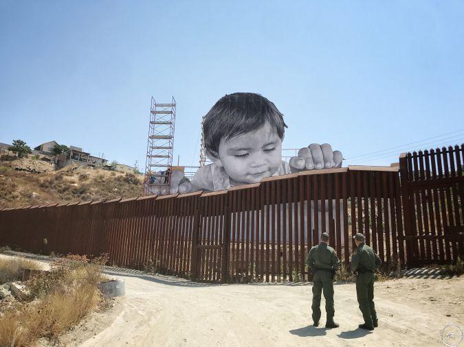 ¿Por qué no hacer arte en vez de construir muros? - Intervenciones del artista JR. Haz arte no muros