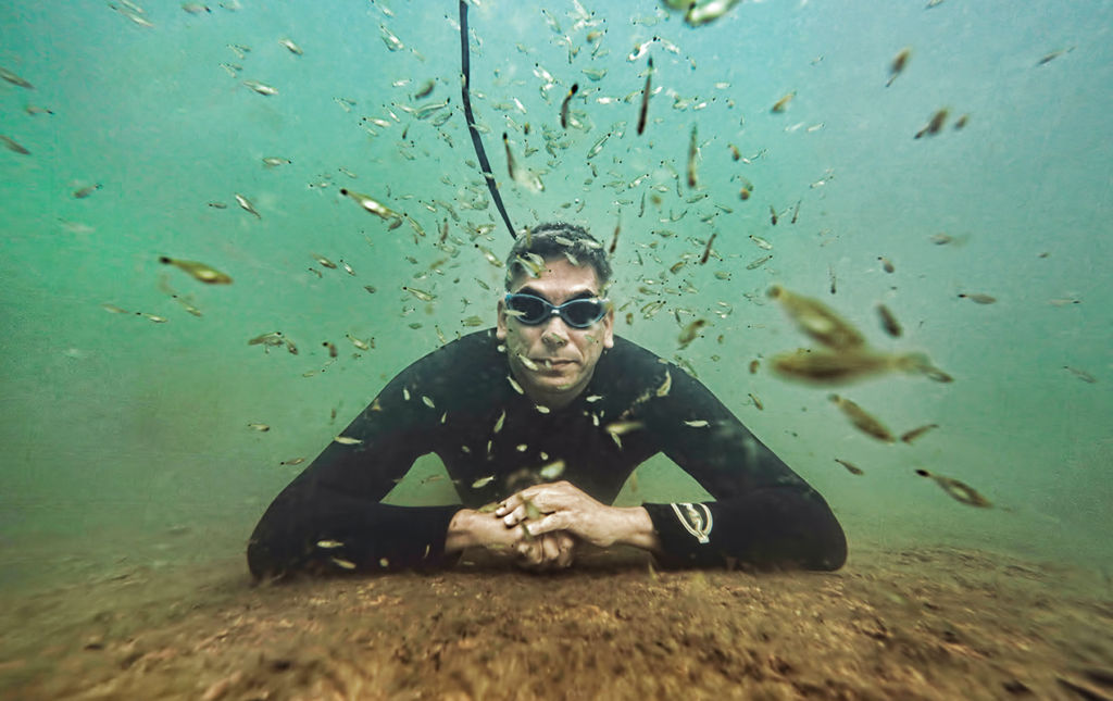Ivan Mikolji - under the sea diver fish photograph