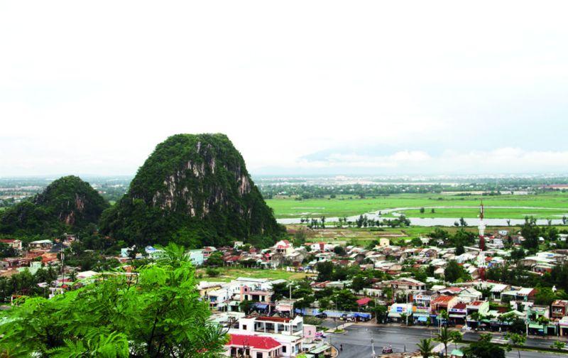 Vietnam: Hoi An y las montañas de mármol - hoi-an-montancc83a-de-marmol-ciudad-vista-aerea