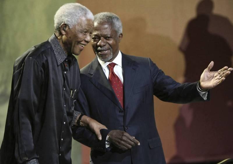 Fallece Kofi Annan, Nobel de la Paz y ex secretario general de las Naciones Unidas - kofi-annan-con-nelson-mandela-fallece-kofi-annan-nobel-de-la-paz-y-ex-secretario-general-de-las-naciones-unidas