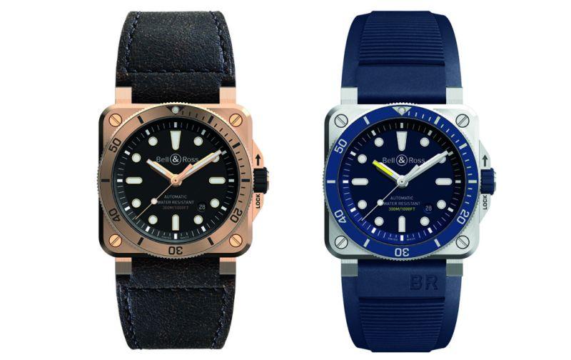 Diver blue y Diver bronze - reloj-para-hombre-buceo-bell-_-ross-diver-bronze-y-diver-blue