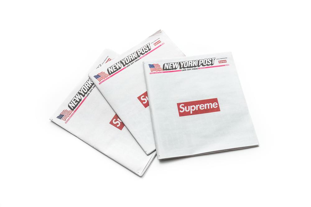 La marca Supreme tomó la portada del New York Post - Supreme New York Post Portada