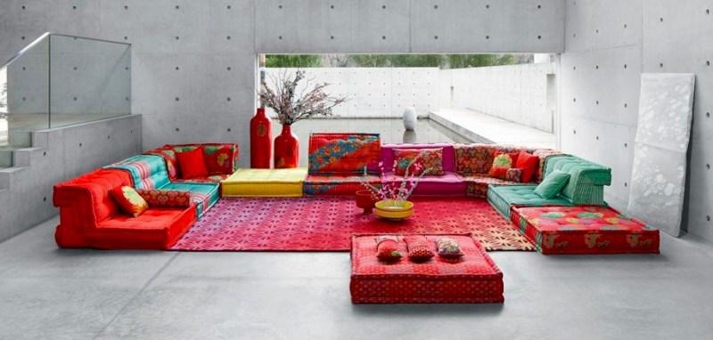 Roche Bobois apuesta por el diseño local - sofa-mah-jong-de-roche-bobois-intervenido-por-kenzo-takada