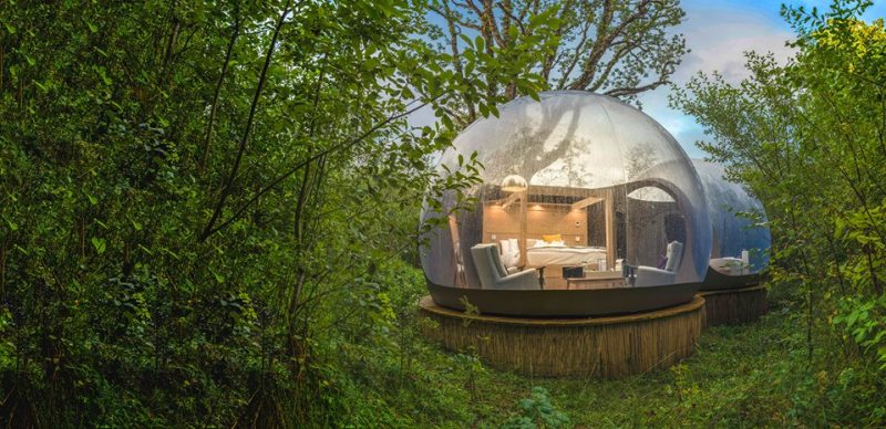 Bubble hotels que tienes que conocer - finnlough-bubble-domes-irlanda-del-norte
