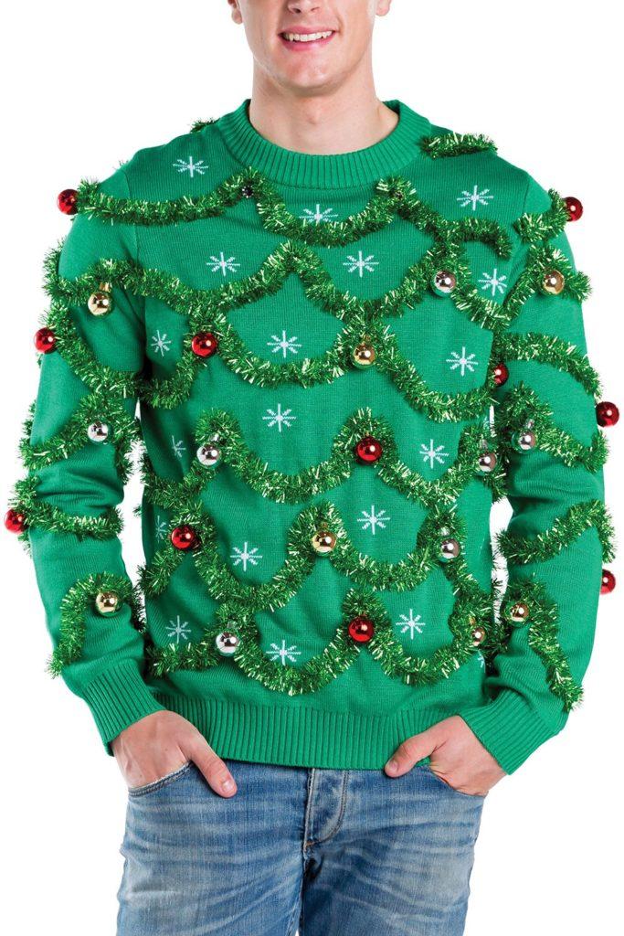 Inspiración para tu próxima Ugly Christmas Sweater Party - gaudy-garland-ugly-christmas-sweater